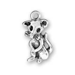 Sitting Mouse Charm Image