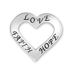 Love Faith Hope Heart Image