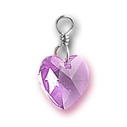 Alexandrite Swarovski Crystal Heart Charm Image