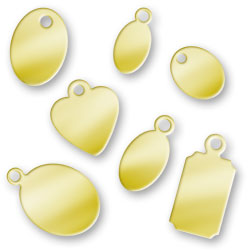 Sample Pack Of Gold Plated Jewelry Tags Image
