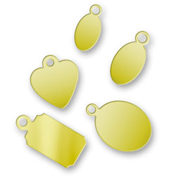 Sample Pack Of Brass Jewelry Tags Image