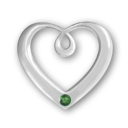 May Birthstone Heart Pendant Image