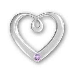 June Birthstone Heart Pendant Image