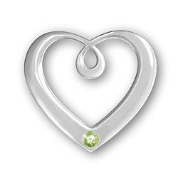 August Birthstone Heart Pendant Image