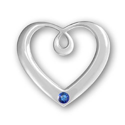 September Birthstone Heart Pendant Image