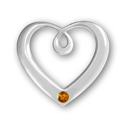 November Birthstone Heart Pendant Image