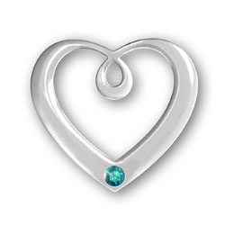 December Birthstone Heart Pendant Image