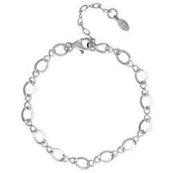 Sterling Silver Charm Bracelet With Clasp Image