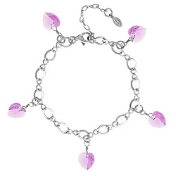 Alexandrite Crystal Heart Charm Bracelet Image