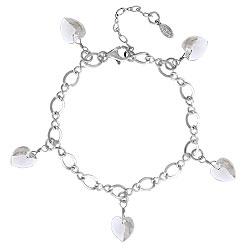 Crystal Heart Charm Bracelet Image