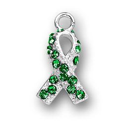 Green Crystal Ribbon Charm Image