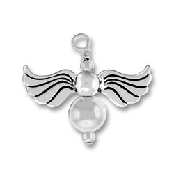 Silver Angel Charm Image