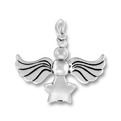 Star Silver Angel Charm Image