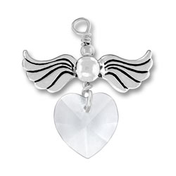 Love Taking Flight With Crystal Heart Image