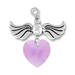 Love Taking Flight With Alexandrite Crystal Heart Image