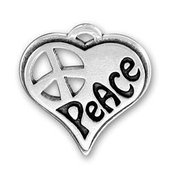 Peace Heart Charm Image