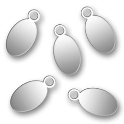 Engraved Stainless Steel Oval Tags 55mm X 11mm Image
