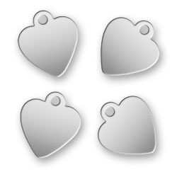Engraved Stainless Steel Heart Tags 92mm X 105mm Image