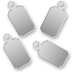 Engraved Stainless Steel Rectangular Tags 67mm X 137mm Image