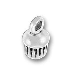 Small 3 D Cupcake Charm Image