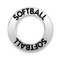 Softball Message Ring Image