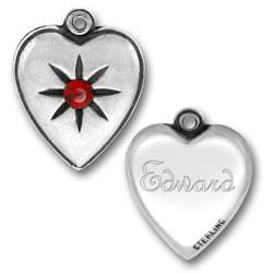 Twilight Inspired Edward Heart Charm Image