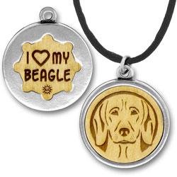 Wooden Beagle Charmpendant Image