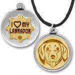 Wooden Labrador Charmpendant Image