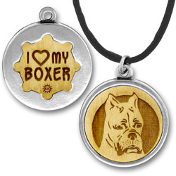 Wooden Boxer Charmpendant Image