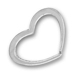 Pewter Open Heart Charm Image