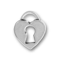 Pewter Heart Keyhole Charm Image