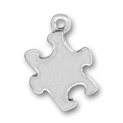 Pewter Puzzle Piece Charm Image