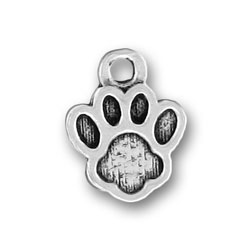 Pewter Small Paw Print Charm Image