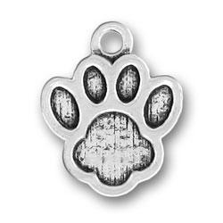 Pewter Paw Print Charm Image