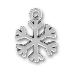 Pewter Snowflake Charm Image