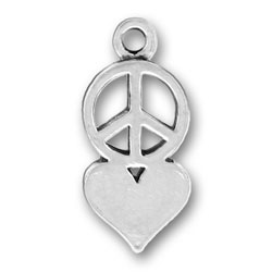 Pewter Peace Love Charm Image