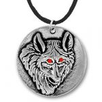 Wolf Pendant With Red Eyes Image