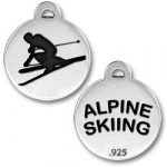 Alpine Skiing Charm Image
