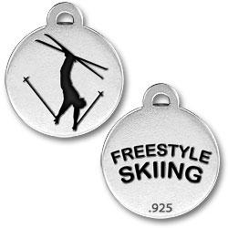 Freestyle Skiing Charm Image