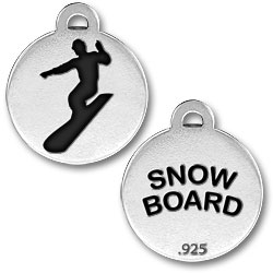 Snow Board Charm Image