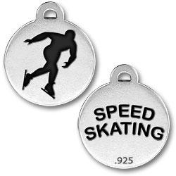Speed Skating Charm Image