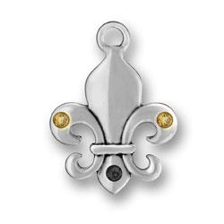 Pewter New Orleans Fleur De Lis Charm Image
