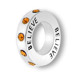 November Believe Affirmation Ring Image