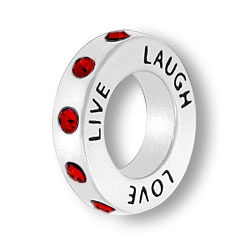 January Live Love Laugh Affirmation Ring Image