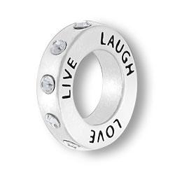 April Live Love Laugh Affirmation Ring Image