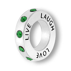 May Live Love Laugh Affirmation Ring Image