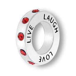 July Live Love Laugh Affirmation Ring Image
