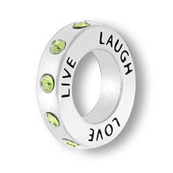 August Live Love Laugh Affirmation Ring Image