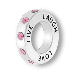 October Live Love Laugh Affirmation Ring Image