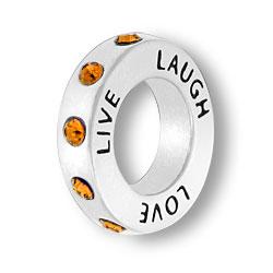 November Live Love Laugh Affirmation Ring Image